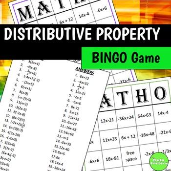 Distributive Property BINGO Game