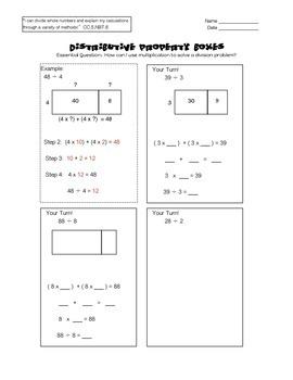 Distributive Property Boxes 5.NBT.B.6