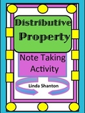 Distributive Property - Note Taking on Breaking Apart Numb