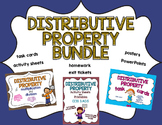 Distributive Property Worksheets and Task Cards Bundle