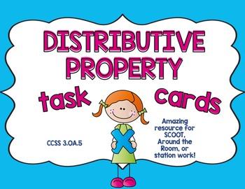 Distributive Property Worksheets and Task Cards Bundle