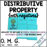 Distributive Property Card Game (with Negatives)