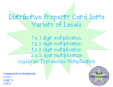 Distributive Property Card Sorts- various levels