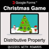 Distributive Property   Christmas Decoration Game   Google Forms