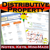 Distributive Property: Colored Notes, Keys, and Cool Mini-maze