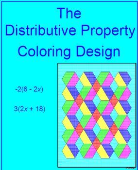 Distributive Property # 1  - Coloring Design
