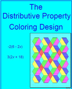 DISTRIBUTIVE PROPERTY:  COLORING ACTIVITY #1