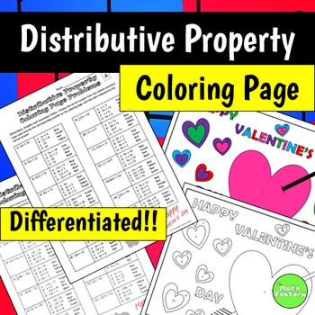 Distributive Property Coloring Page (Valentine's Day)