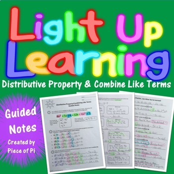 Distributive Property Combine Like Terms Guided Notes
