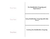 Distributive Property & Combining Like Terms Foldable