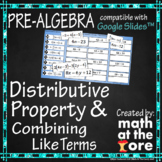 Distributive Property & Combining Like Terms - GOOGLE Slides