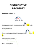 Distributive Property & Combining Like Terms Handout