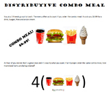 Distributive Property Combo Meal