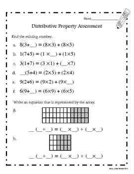 Distributive Property (Common Core Aligned)