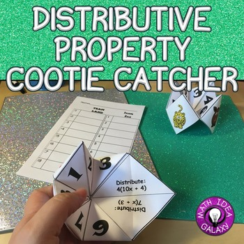 Distributive Property Cootie Catcher Activity