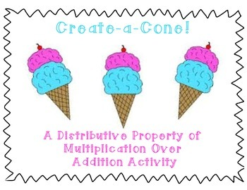 Distributive Property Create-a-Cone