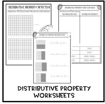 Distributive Property Detective Bundle