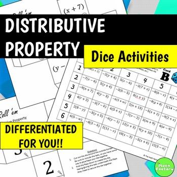 Distributive Property Dice Activities