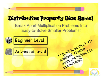 Distributive Property Dice Game!