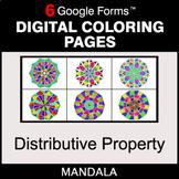 Distributive Property - Digital Mandala Coloring Pages | G