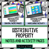 Distributive Property Digital Note and Activity Bundle for