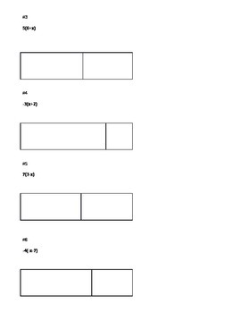 Distributive Property Discovery Notes