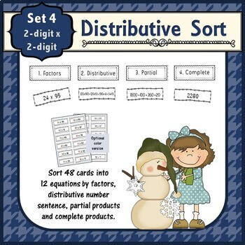 Distributive Property Double Double Sort