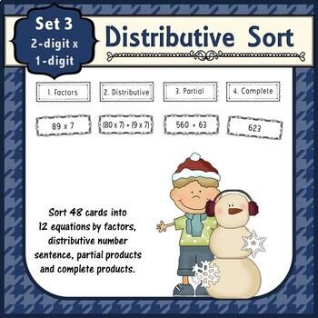 Distributive Property Double Single Sort