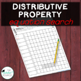Distributive Property Equation Search Activity