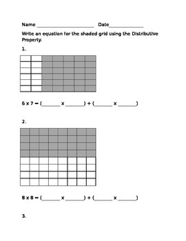 Distributive Property Equations