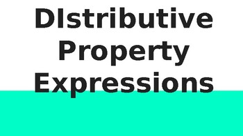 Distributive Property Expressions