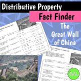Distributive Property Fact Finder - The Great Wall of China