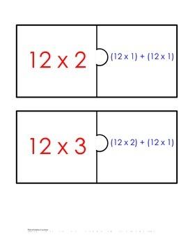 Distributive Property Fact Puzzle x12