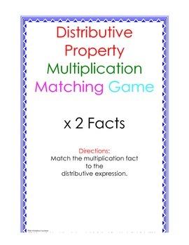 Distributive Property Fact Puzzle x2