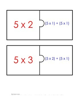 Distributive Property Fact Puzzle x5