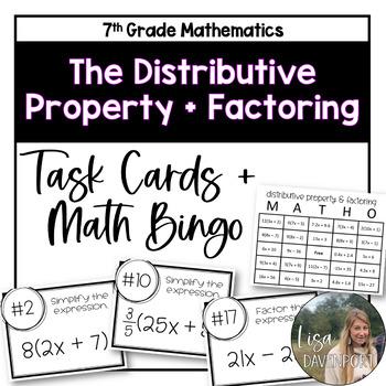 Distributive Property & Factoring (Task Cards & MATHO)