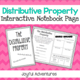 Distributive Property Foldable