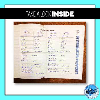 Distributive Property Foldable Notes