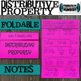 Distributive Property Foldable Notes Interactive Notebook
