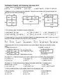 Distributive Property, GCF factoring, and Areas 2010 (Editable)