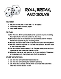 Distributive Property Game: Roll, Break, and Solve