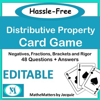 Distributive Property With Fractions Teaching Resources Teachers