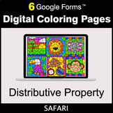 Distributive Property - Google Forms | Digital Coloring Pages