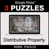 Distributive Property - Google Slides - Birds Puzzles