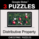 Distributive Property - Google Slides - Christmas Puzzles