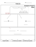 Distributive Property Graphic Organizer Special Education