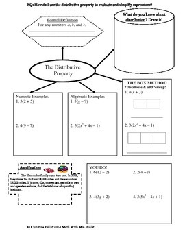 Distributive Property Guided Notes