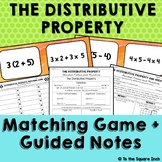 Distributive Property Notes and Game