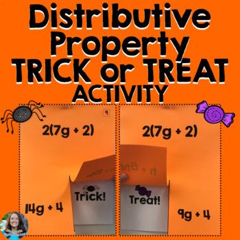 Distributive Property Halloween Activity TRICK or TREAT