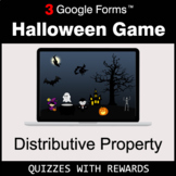 Distributive Property | Halloween Decoration Game | Google Forms